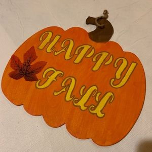 🍂MUST HAVE!🍂 Wooden hand made Happy Fall Sign
